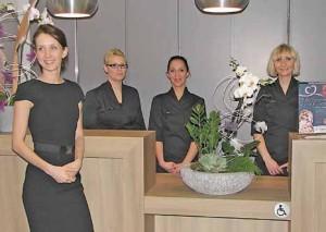 Maud Brocard, à gauche, et ses collaboratrices se mettent en quatre pour le bien-être de leurs clients.