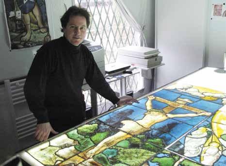 Fabrice Courageux, un amoureux de la restauration des oeuvres.