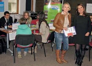 Marie Jiolat (à d.), ici avec la nouvelle responsable de communication de la CCI, Mireille Dubaelle, a organisé la 4e Nuit de l'orientation.