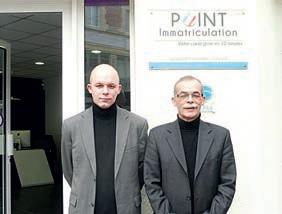 Jacques-Antoine et Patrice Marteau sont à l'origine de Point Immatriculation.