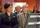 "Claude Gewerc a fait visiter l'exposition ""Design made in Picardie"".à Christine Lieberknecht."