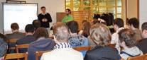 Maxime Mularz a présenté les nombreux avantages du cloudcomputing lors d'une conférence dans les locaux d'Interfor.