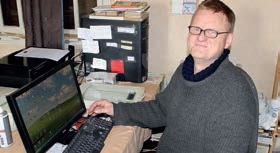 Christian Roisin veille sur la bonne marche informatique...