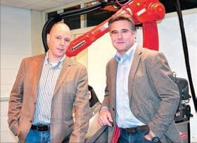 Remco Valk, PDG de Valk Welding, et Michel Devos, responsable des affaires France.