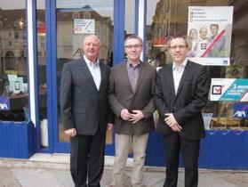 De gauche à droite, les associés Thierry Meresse, Thierry Thonnard et Stéphane Gadroy.