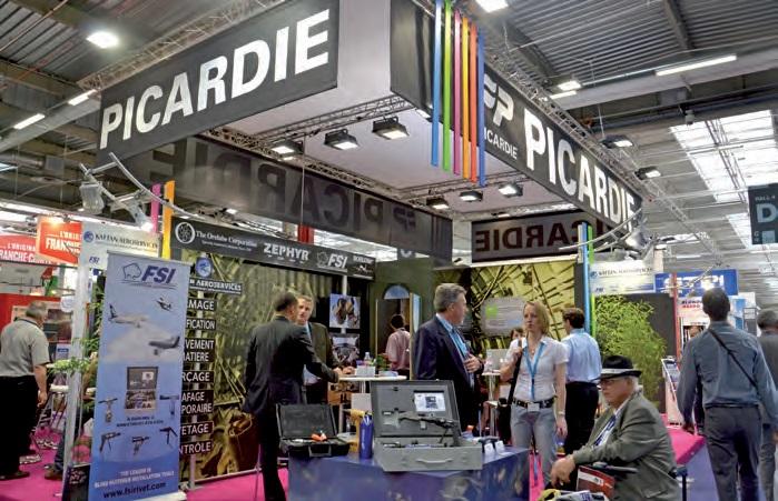 Quatorze entreprises picardes, dont une majorité de PME, s'étaient rassemblées sous un pavillon collectif lors de la 50e édition du salon du Bourget.