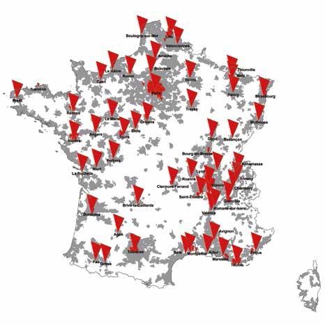 55 agglomérations vont être couvertes par la 4G de SFR, dont Amiens et Beauvais.