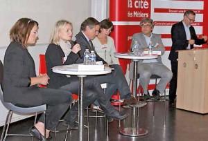 Des échanges fructueux au cours des colloques organisés dans le cadre des 20 ans du réseau des Cités des Métiers, ici à Beauvais.