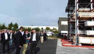 Le député maire Stéphane Demilly, les clients et les fournisseurs sont venus découvrir la nouvelle plate-forme logistique.