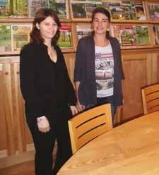 Cathy Caramia (à g.) avec Emmanuelle Nicod, recrutée en juillet dernier.