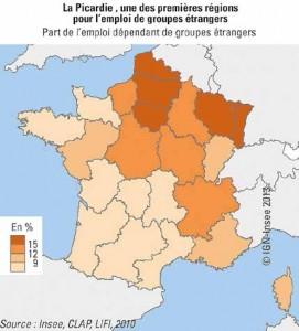 La situation géographique de la Picardie lui permet d'attirer des groupes étrangers.