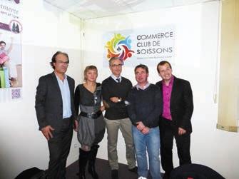Les cinq fondateurs de Super Soissons.