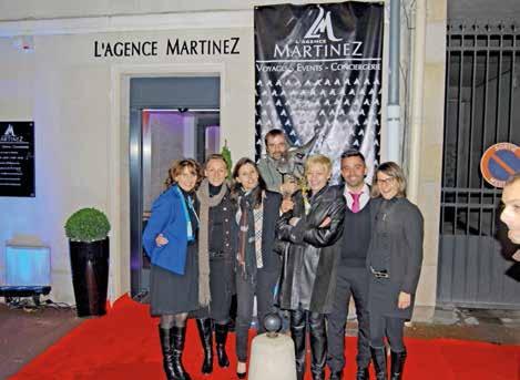 L'équipe de l'agence Martinez, durant son inauguration, le 14 novembre.