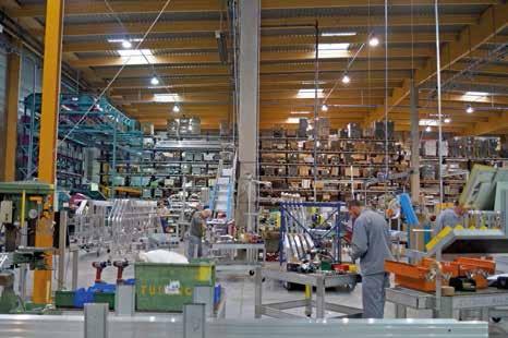 L'usine fabrique notamment des produits sur mesure.