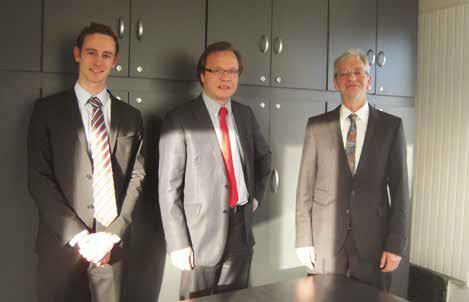 Thomas Pommier, expert-comptable, François Garnier, associé, et Michel Boivin, dirigeant.