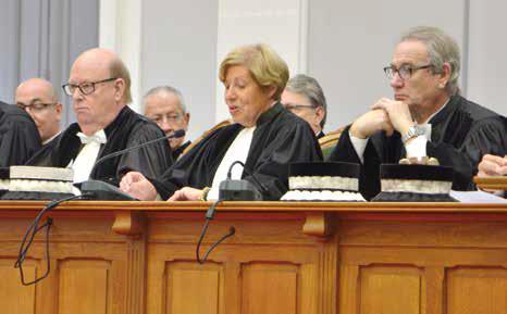 Martine Beaurain a souhaité la bienvenue aux trois nouveaux juges élus.