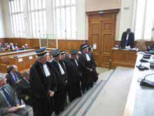 Les juges nommés ou réélus.