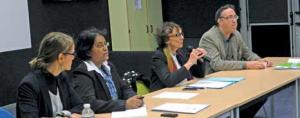 Karine Bonnet de l'Adie, Seelabaye Appa, Isabelle Dorliat-Pouzet et Claude Vasaleck de Picardie Active ont répondu aux nombreuses questions