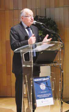 Michel Dieudonné,vice-président du Groupement d'intérêt public guichet unique, a mis en avant la collaboration étroite entre le guichet unique et l'administration.
