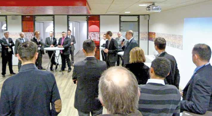La seconde réunion des Soirées de l'entreprise a permis à une soixantaine de chefs d'entreprise de se rencontrer dans les locaux de la Caisse d'Epargne Picardie.