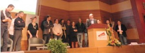 Marc Hossart, président des jeunes agriculteurs de la Somme entouré par les nouveaux élus cantonaux