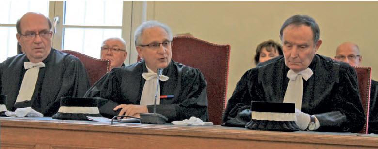 Le président, Jean-Michel Cassel (au centre), est notamment revenu sur la réforme des Tribunaux de commerce.