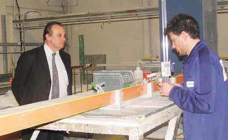 Philippe Enjolras, président de la CCIO, s'est engagé a aidé l'entreprise à se développer.