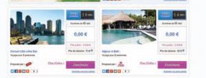 Week-end ou séjours, destinations lointaines ou en Europe, le site propose de nombreuses formules.