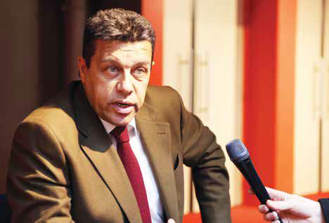 Xavier Beulin, président de la Fédération nationale des syndicats d'exploitants agricoles (FNSEA) était présent lors de l'assemblée générale tenue à Saint-Quentin.