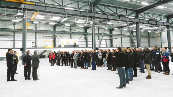 Industriels et acteurs locaux ont salué l'installation de Figeac aéro sur la ZAC Aéropôle, la production devrait commencer dès mars.