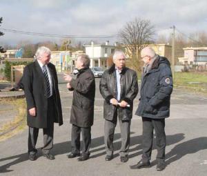 Jean-François Dardenne et Michel Delmas de la visite du site par les repreneurs, fin février.