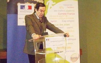 Jean-François Cordet lance le pacte territorial pour l'emploi des personnes handicapées dans la fonction publique.
