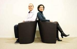 Thibaud Severini, président de Novitact et Vanessa Caignault, directrice générale
