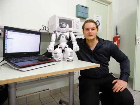 Les professionnels présents à Be-Zend ont eu la possibilité de rencontrer le robot Nao.