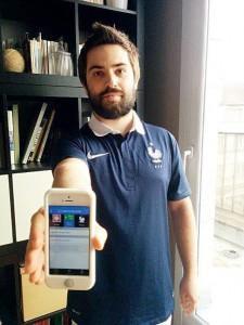 Matchguess est la première appli que Franck Coufourier lance en son nom.