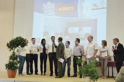 La société AGESYS fait partie des trois entreprises qui ont reçu le trophée 2014.