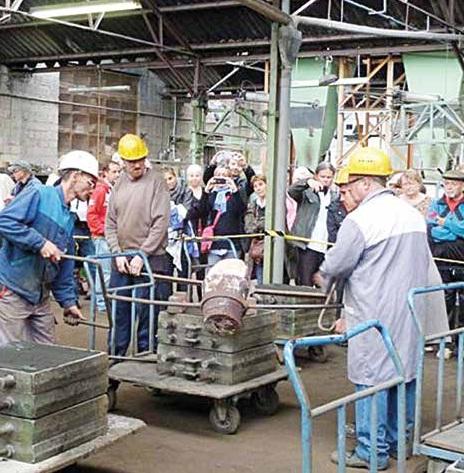 Le public s'était déplacé massivement à la fonderie SIC au moment de sa journée du patrimoine, organisée en septembre 2013.