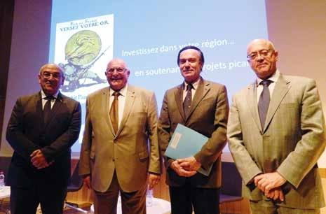 Elrick Irastorza, Jacky Lebrun, Jean-François Cordet et Bernard Beignier, recteur de l'académie d'Amiens.