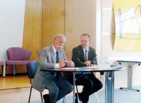 François Delhaye (à g.) et Laurent Roubin (à dr.) ont signé un protocole dont la période de souscription s'arrête le 15 octobre 2014