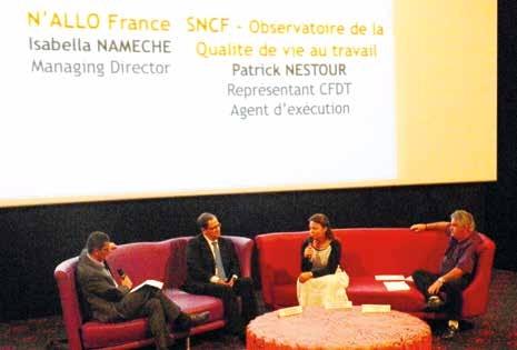 Éric Fauconnet, Isabella Namèche et Patrick Nestour sont venus partager leur expérience lors d'une première table ronde.