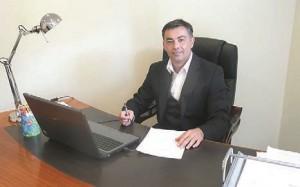 Sylvain Rémy dans son bureau à Soissons : « Je ne fais jamais prendre de risques à mes clients. »