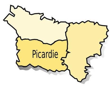 La nouvelle carte des régions fait fusionner la Picardie et le Nord-Pas-de- Calais.