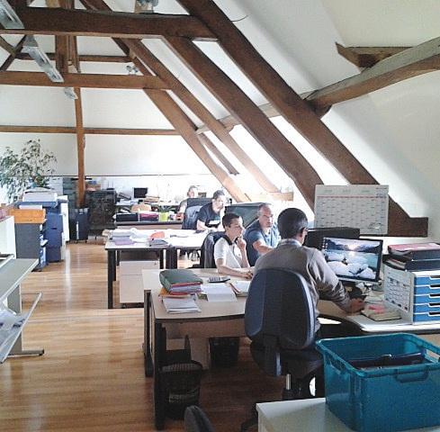Les bureaux d'Evia, lieu où tous les projets se gèrent.