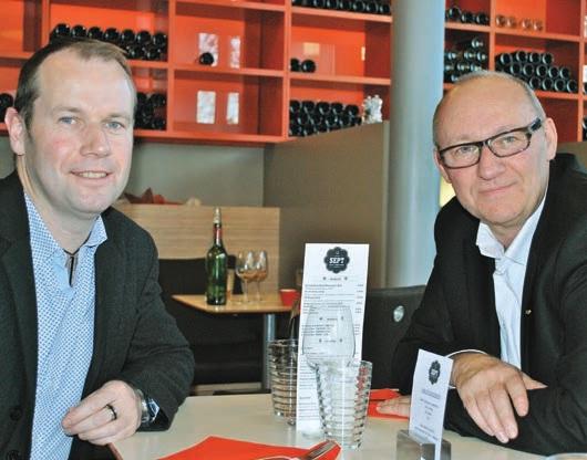 Patrick Letellier et Julien Vasseur, directeurs du restaurant Le Sept.