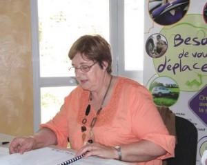 La présidente, Marie-Hélène Jeanjean, satisfaite de l'action de l'association.