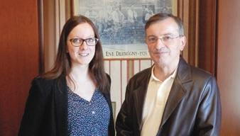 Claire Dermigny et son père Régis, qui transmet sa société mais aussi son savoir-faire et sa soif d'entreprendre à une nouvelle génération dynamique.