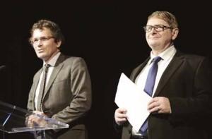 Éric Vandeportal, président de l'ordre des experts-comptables Picardie- Ardennes et Joseph Zorgniotti, président du conseil supérieur de l'ordre