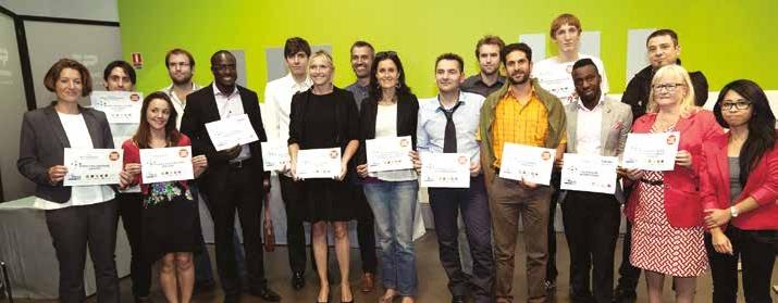 La promotion 2014 de la 16e édition du concours Talents et de la 13e édition du concours Talents des Cités.