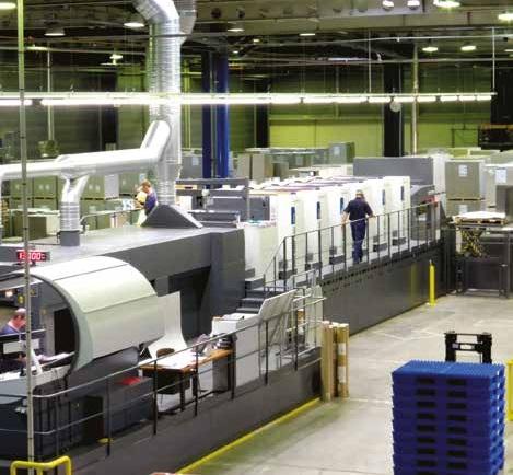 La nouvelle machine offset de l'entreprise, un achat de 5 millions d'euros.