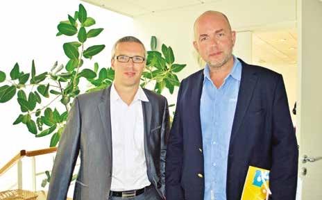 Christophe Thuillier et Grégory Gaudard, directeur et manager technique d'Agesys, société de solutions informatiques basée à Noyon dans l'Oise.
